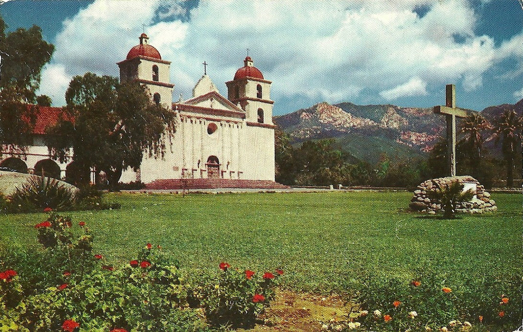 USA - California - Santa Barbara - Santa Barbara Mission Postcard