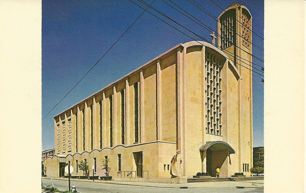 USA - Ohio - Youngstown - St. Columba's Cathedral Postcard