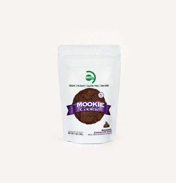 Elixir MRE - Mookies - gluten free vegan meal cookies, super-foods, and immune support teas -Meal Cookie - Chocolate Chip Brownie - Elixir MRE