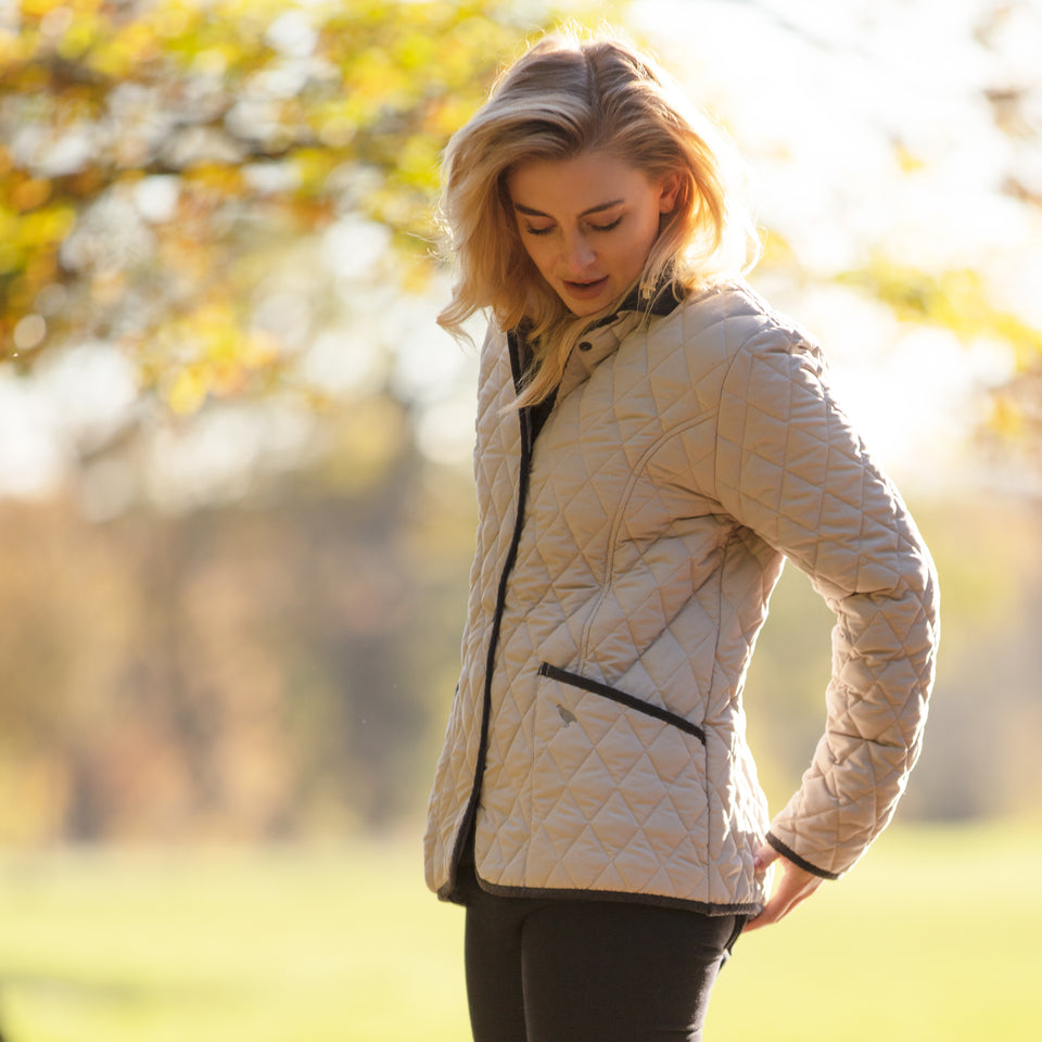 Moorland Classic Fit Quilted Jacket - Sable/Grey Soft Touch