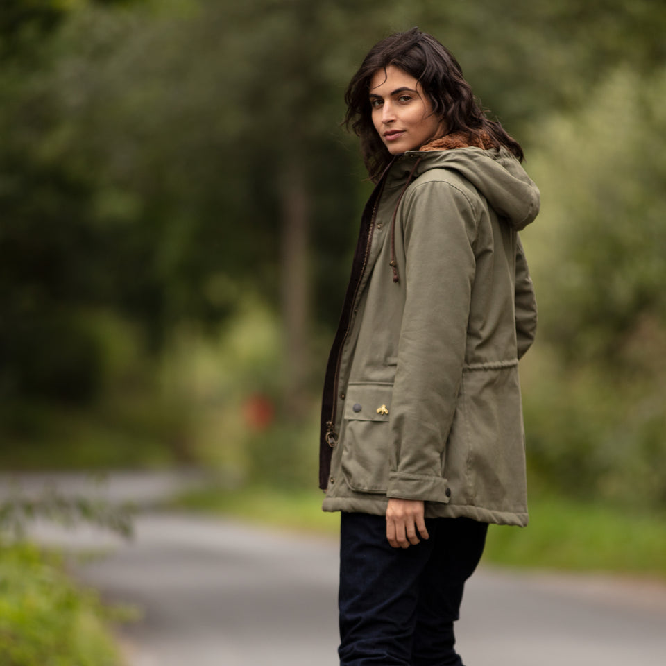 Newmarket Hooded Jacket - Green Cotton