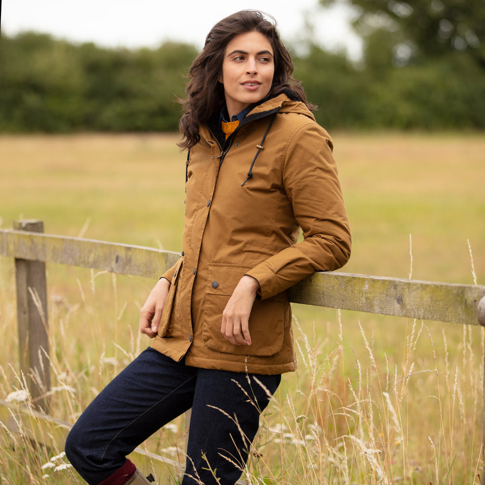 Newmarket Hooded Wax Jacket - Burnt Sand