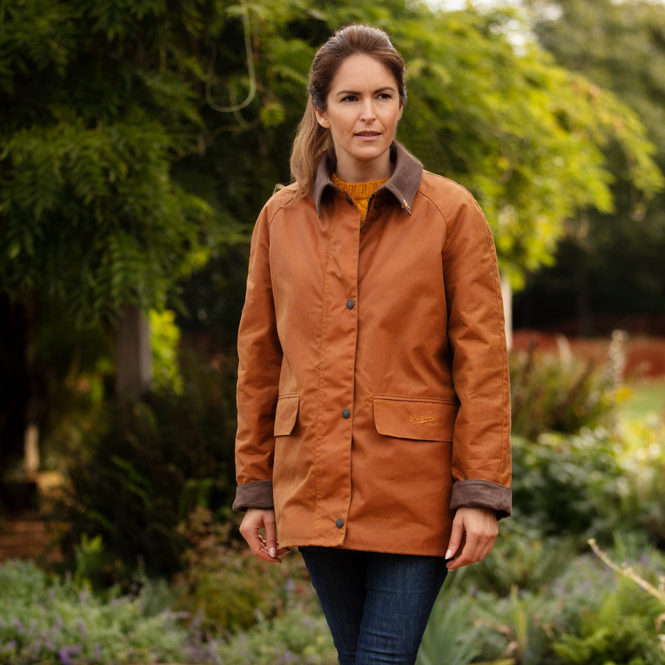 Ladies Bold Landowner Wax Walking Jacket - Mustard