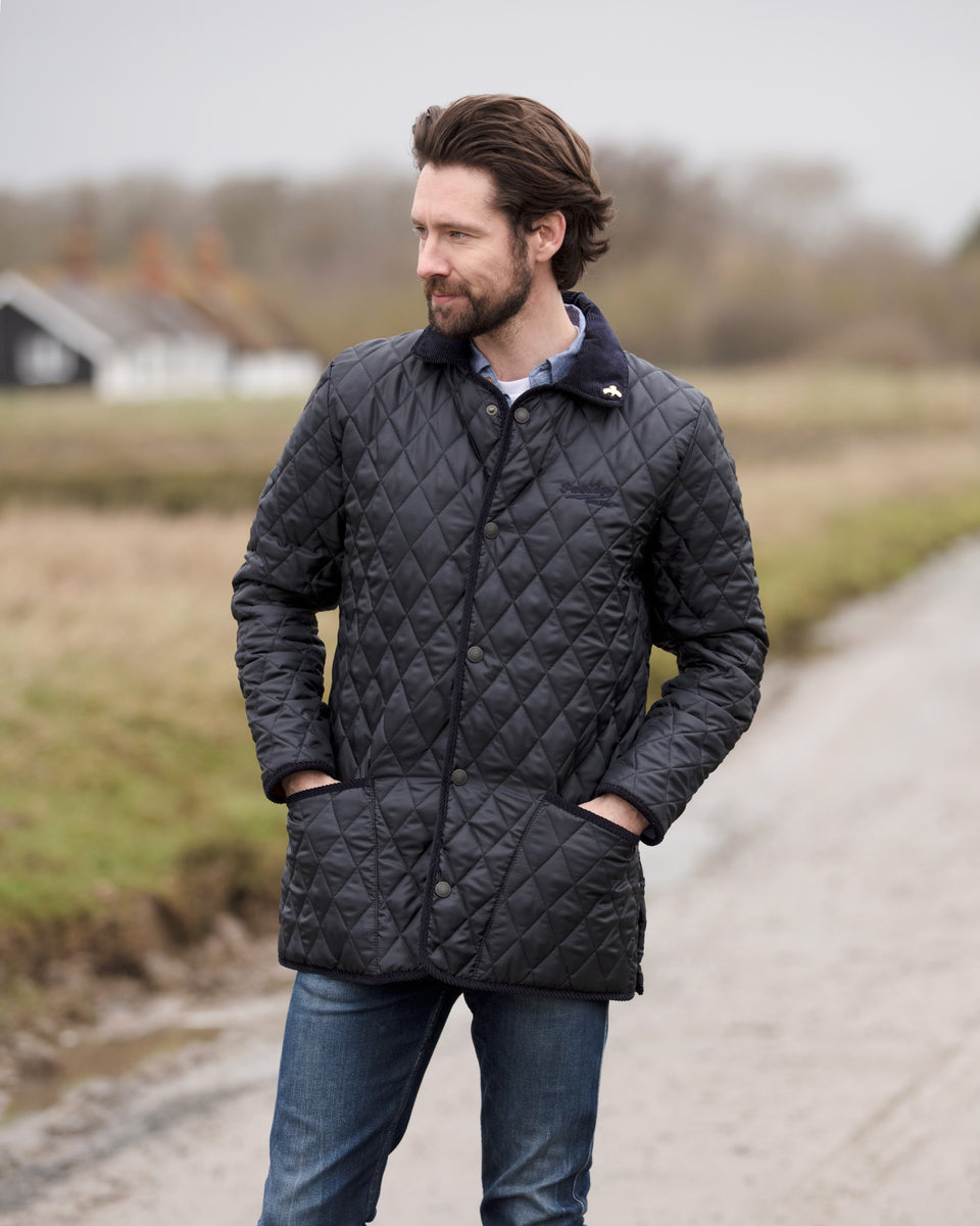 Rag Quilted Jacket - Navy/Claret