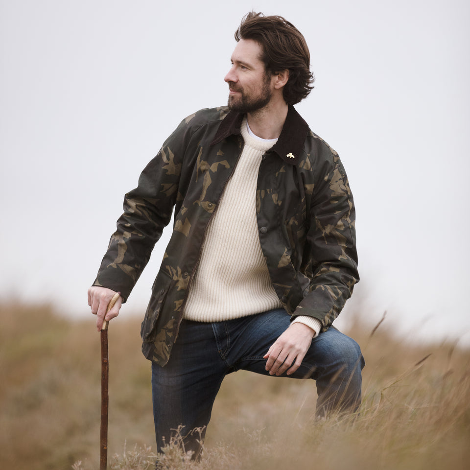 Landowner Wax Walking Jacket - Olive Camo