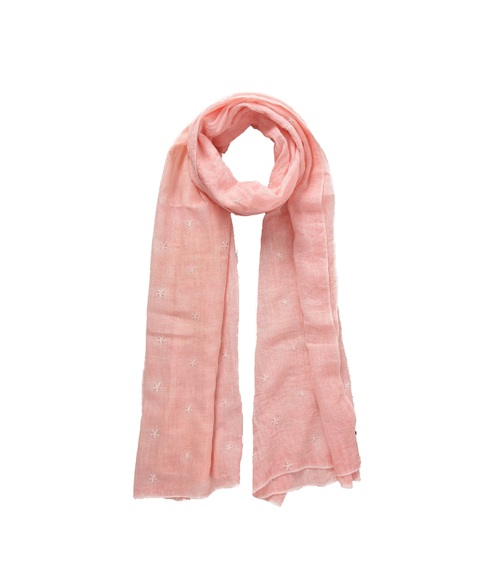 Ladies Scarf - Pink Stars
