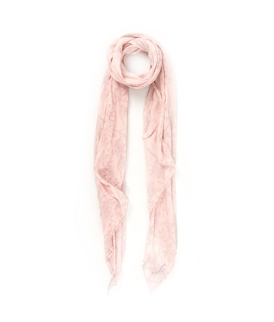 Scarf - Pink Tropical Paradise