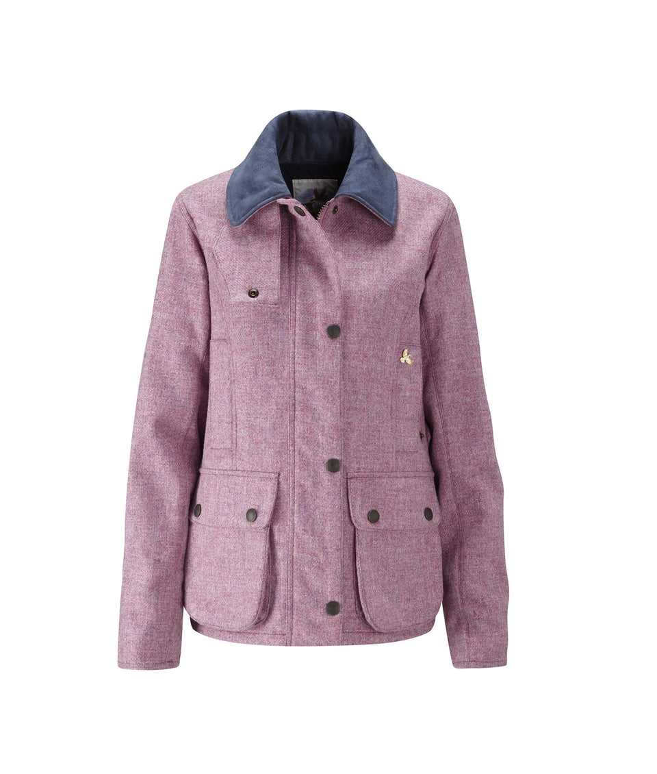 Chaseland Tweed Shooting Jacket - Pink