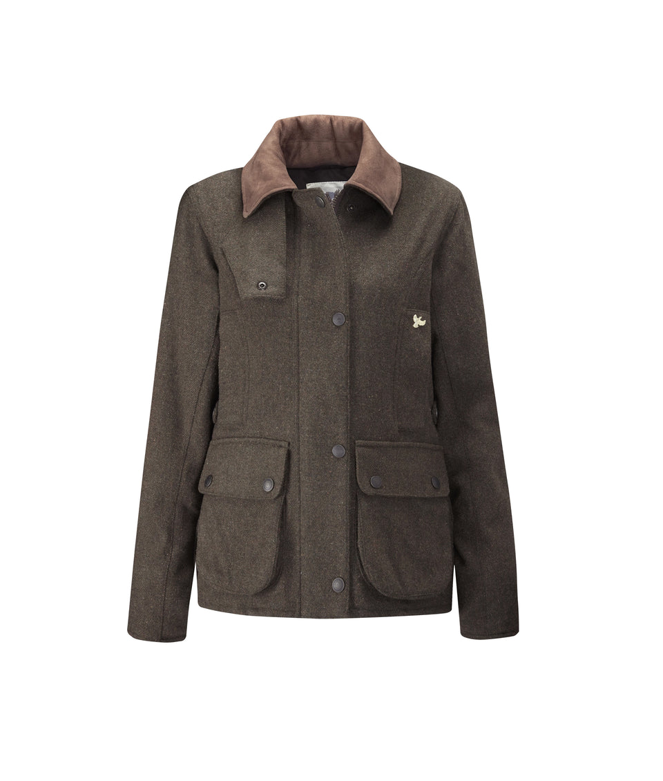 Chaseland Tweed Shooting Jacket - Dark Green