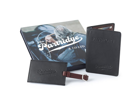 Travel Gift Sets - Sports Leather Black/Bordo