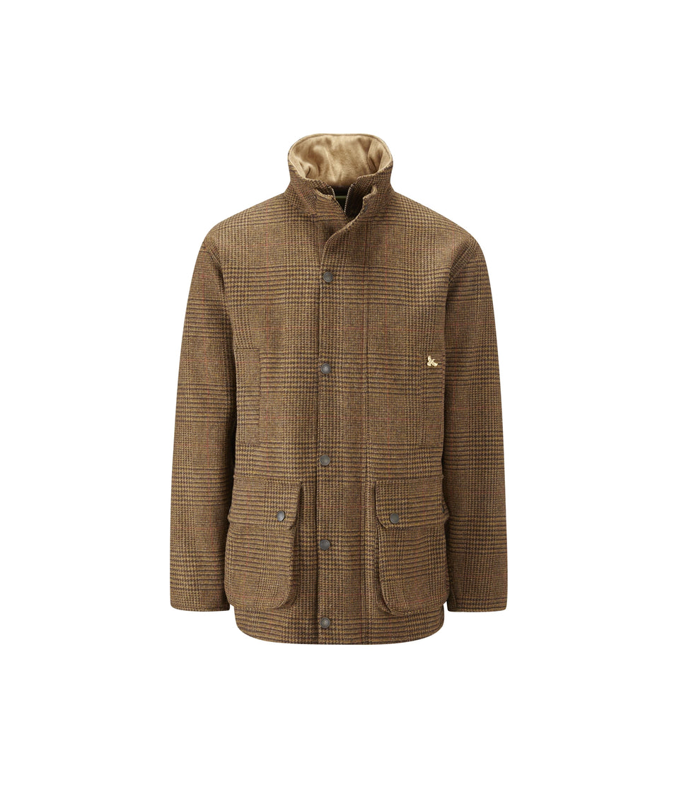 Lowland Hybrid Tweed Shooting Jacket - Brown Check