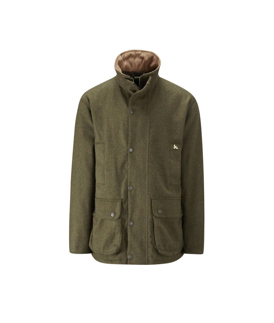 Lowland  Hybrid Tweed Shooting Jacket - Dark Green