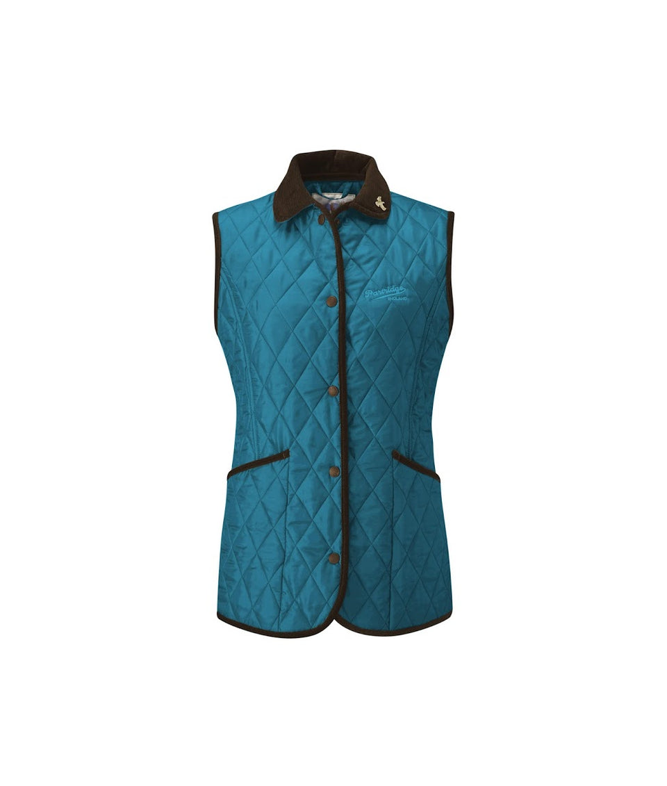 Moorland Quilted Gilet - Petrol/Sand