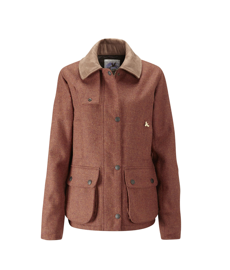 Chaseland Tweed Shooting Jacket - Russet Red