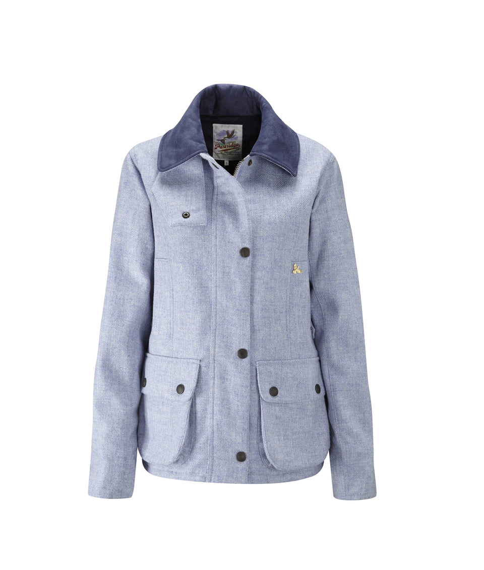 Chaseland Tweed Shooting Jacket - Sky Blue