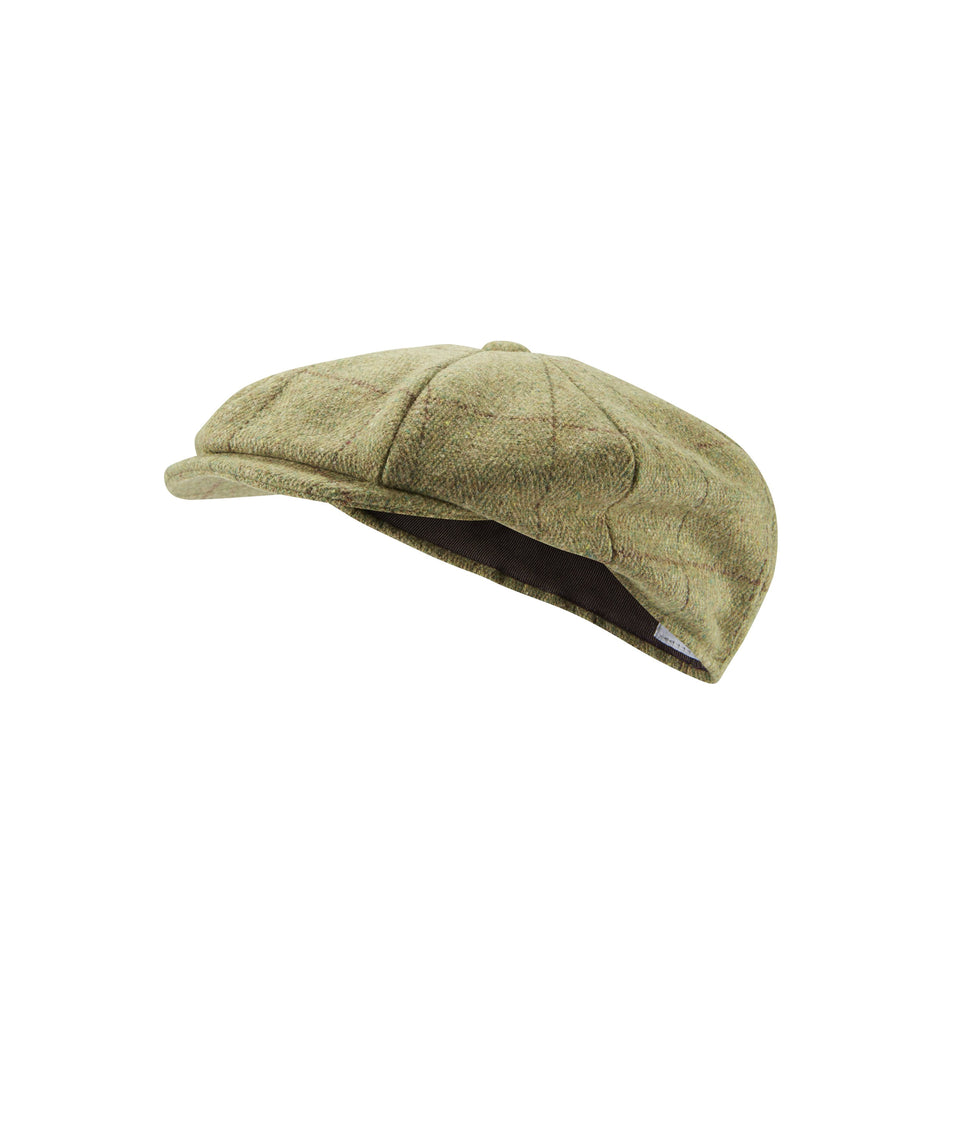 Mens Baker Boy Hat - Sand Tweed