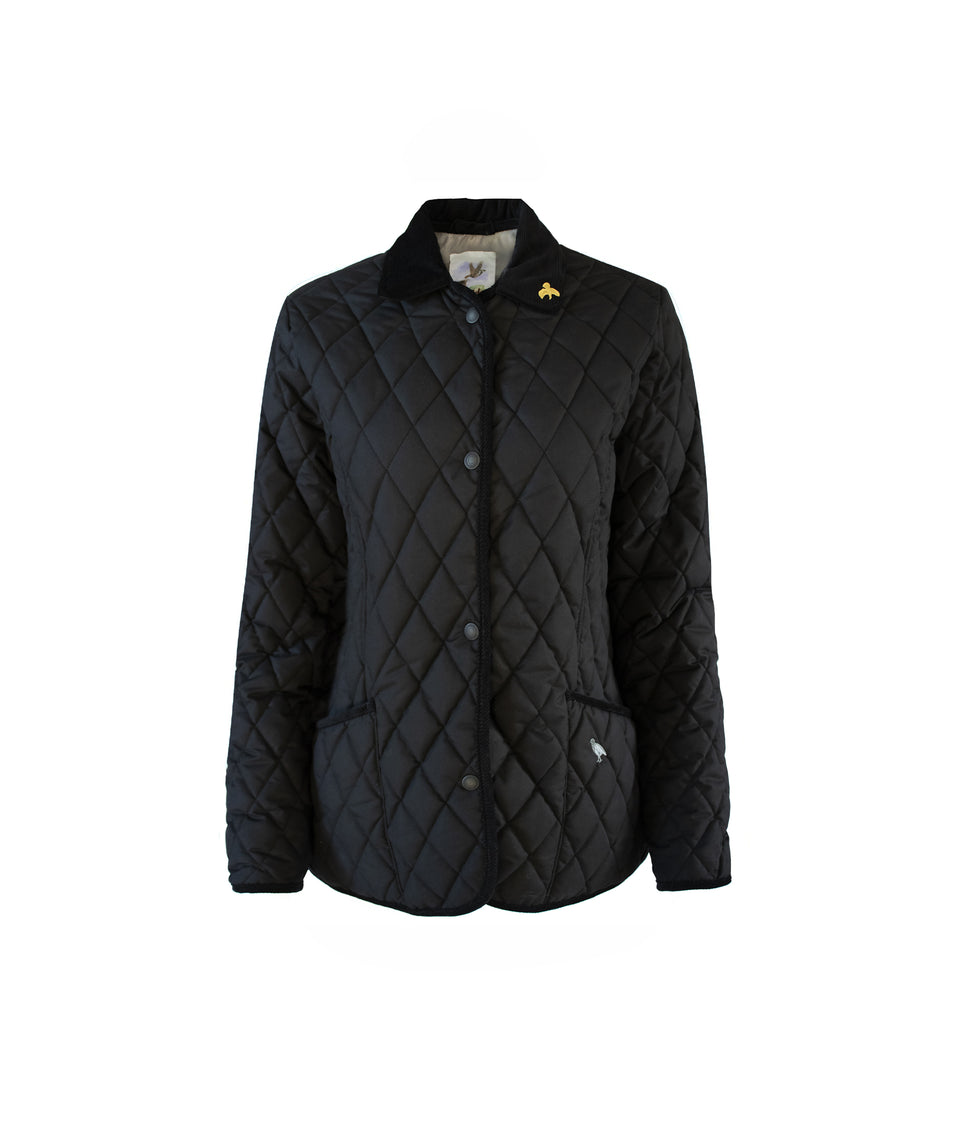 Moorland Classic Fit Quilted Jacket - Black/Grey Soft Touch