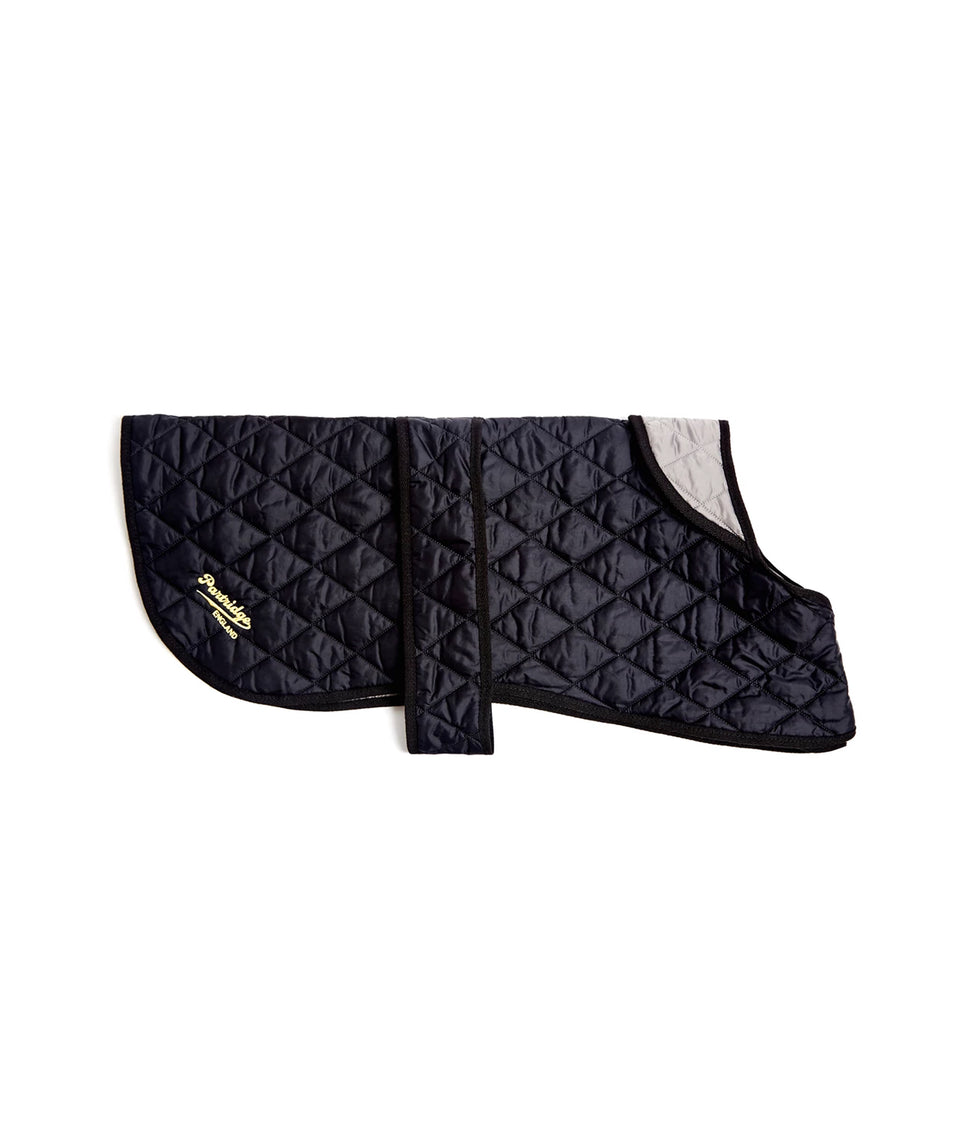 Black & Grey Quilted Dog Coat