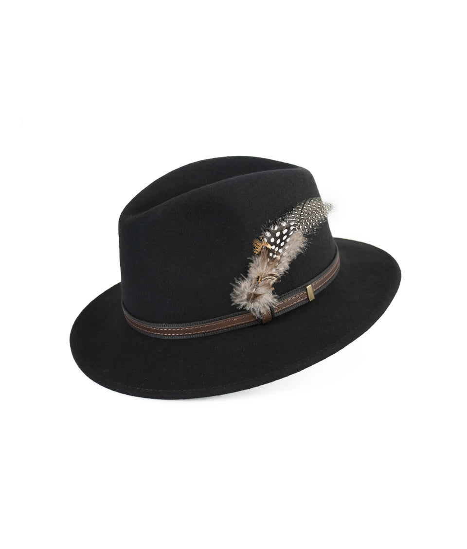 Fedora Wool Hat - Black