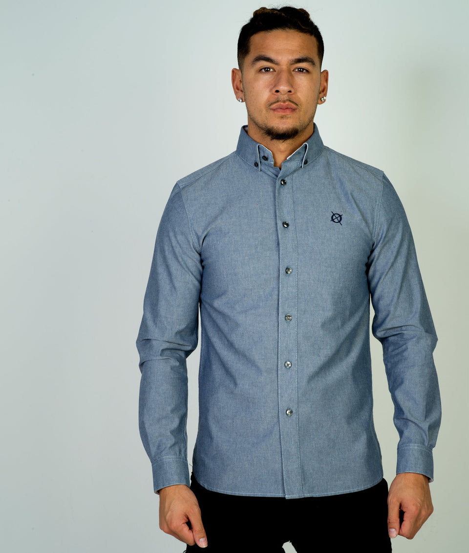 Mens Oxford Shirt - Blue
