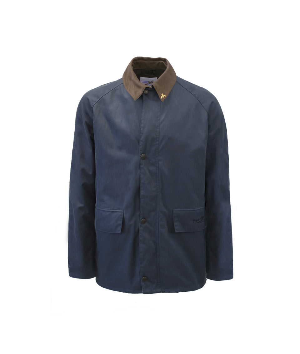 Landowner Bold Wax Walking Jacket - Blue