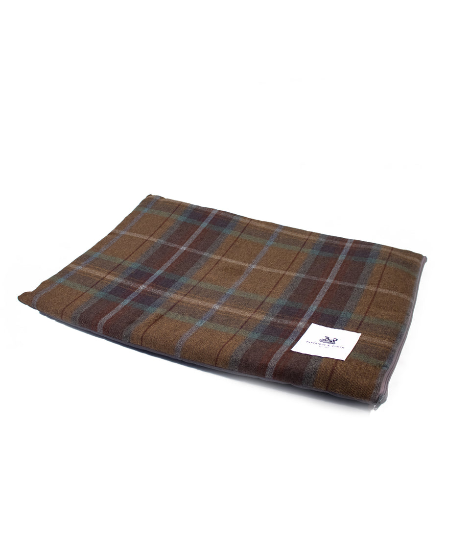 Dog Travel & Crate Mat - Earth Brown Check