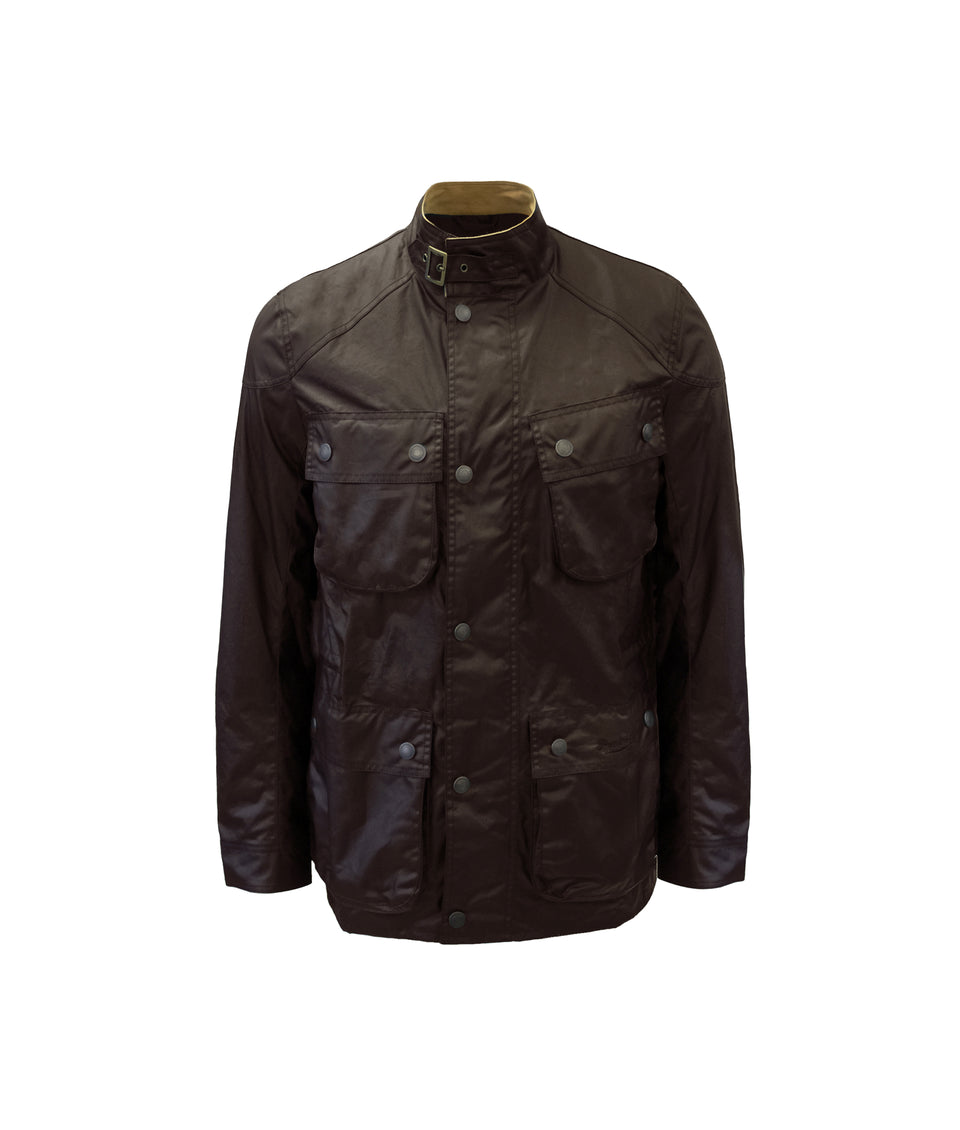 S6 Wax Biker Jacket - Brown