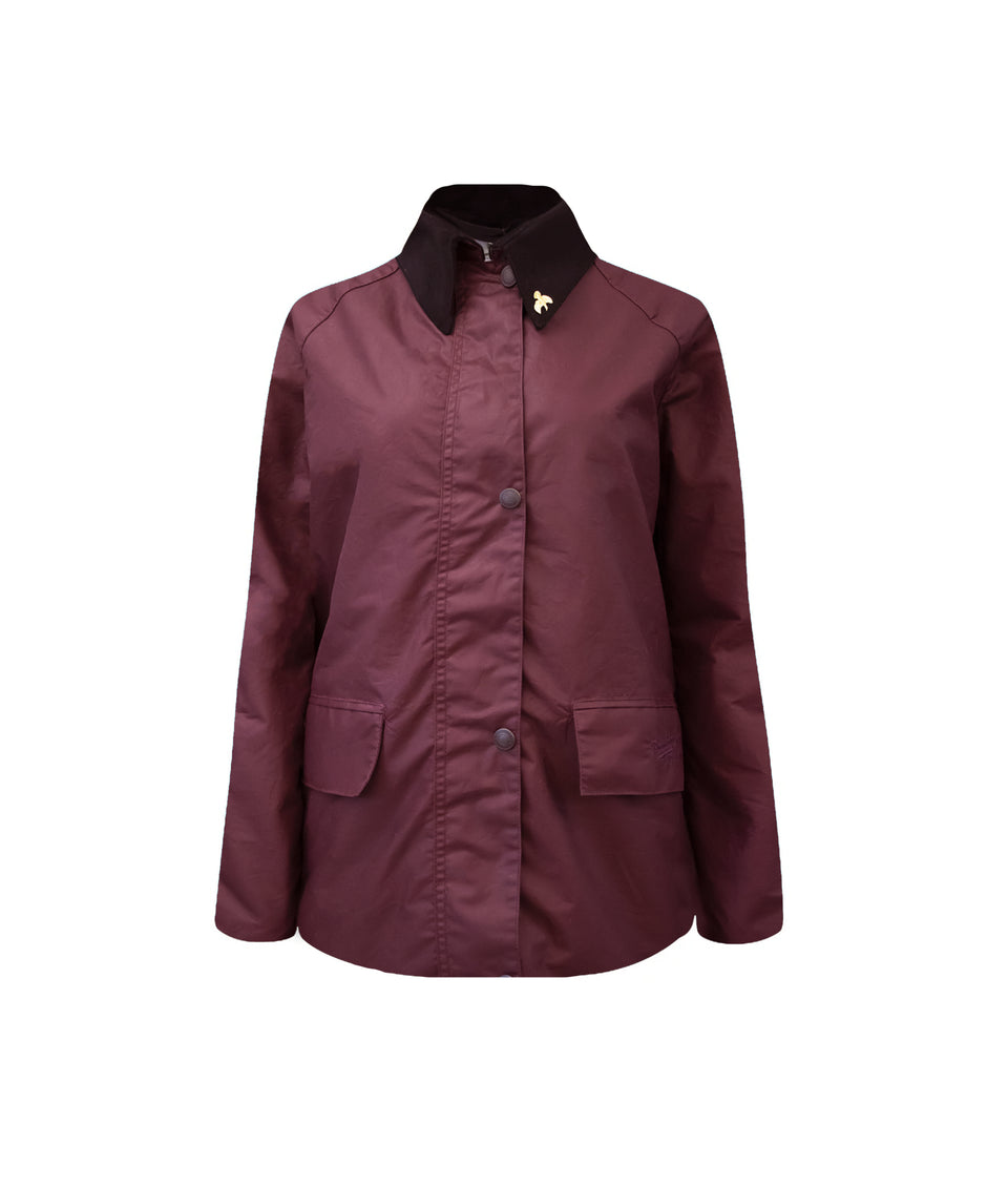 Ladies Bold Landowner Wax Walking Jacket - Burgundy