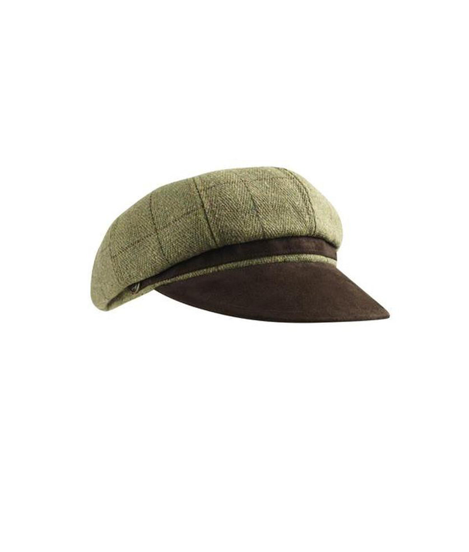 Button Hat - Sand Tweed