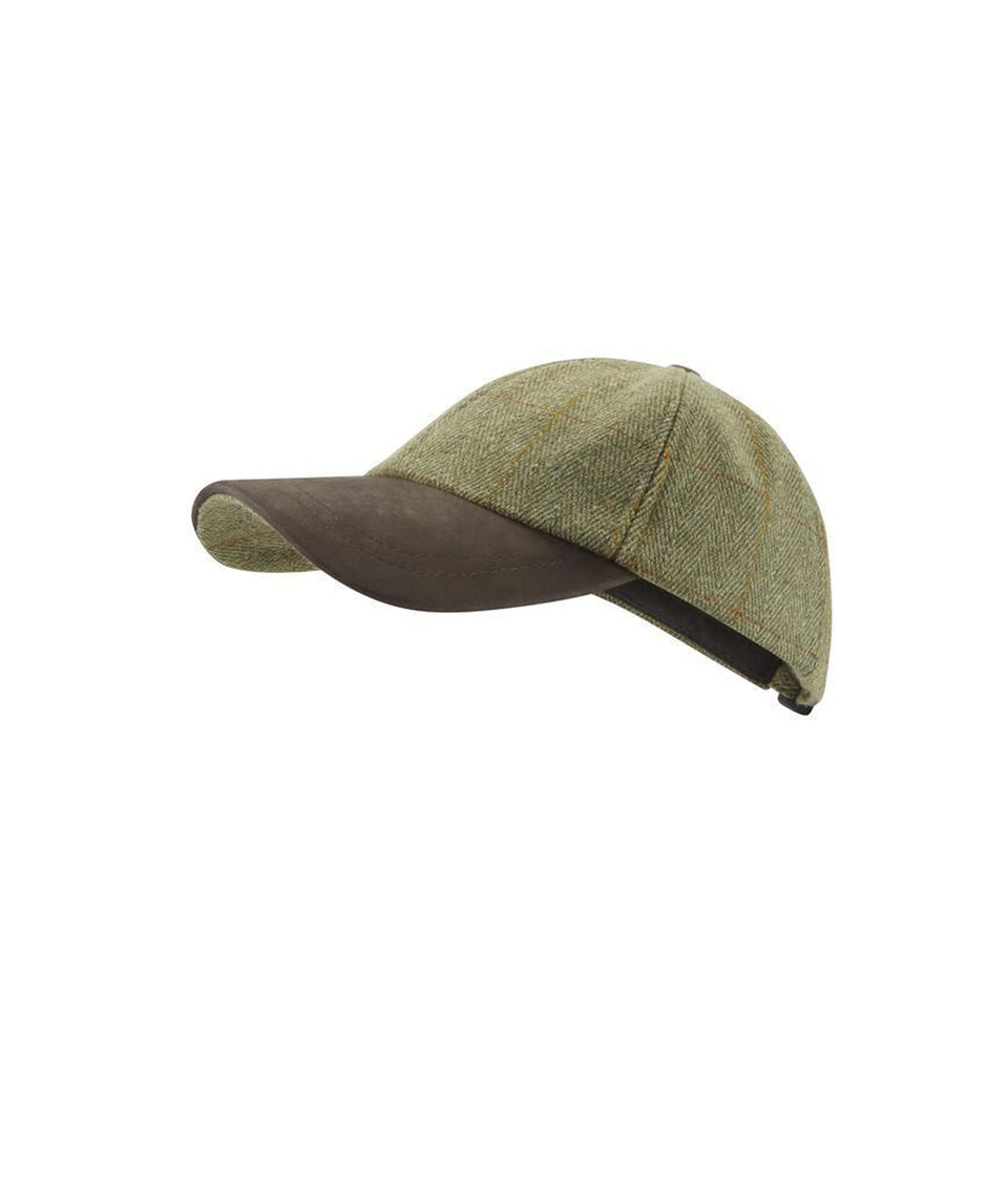 Mens Baseball Cap - Green Tweed