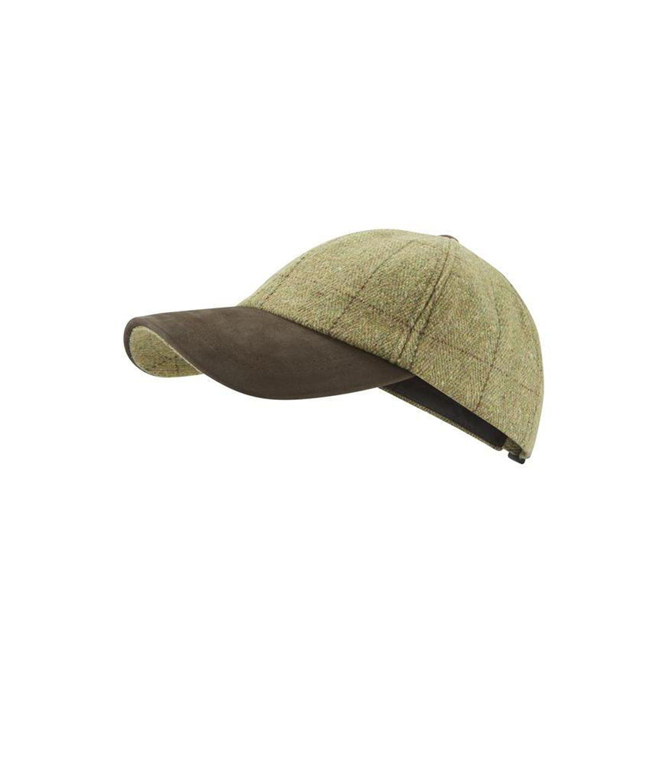 Mens Baseball Cap - Sand Tweed