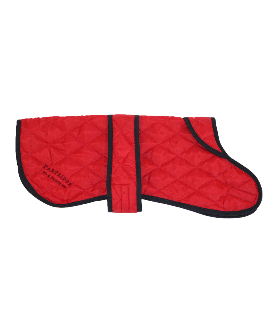 Claret red quilted dog coat