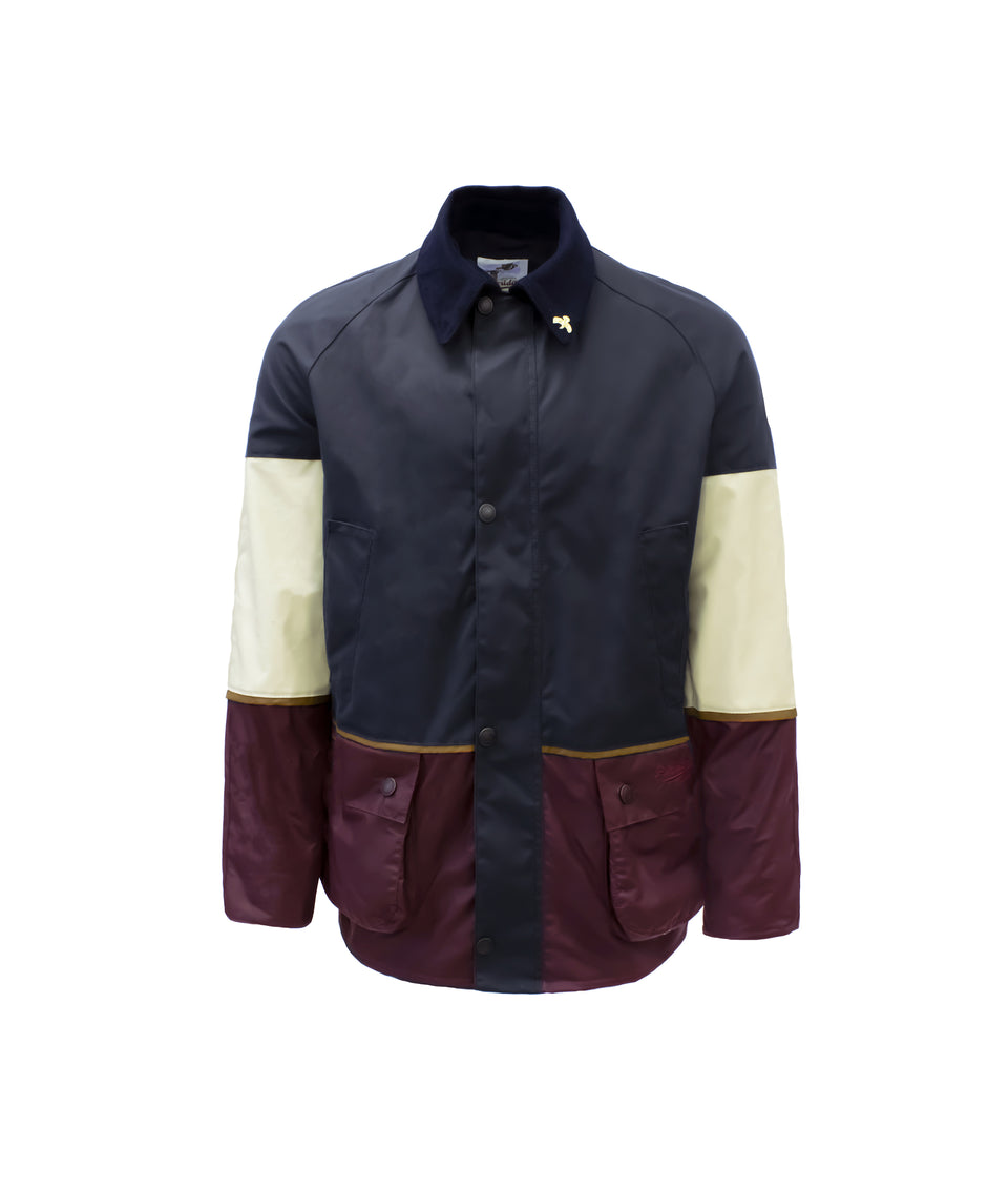 Landowner Tri-Colour Wax Walking Jacket - Coastal