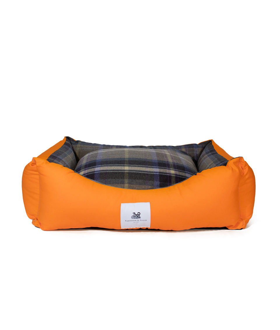 Amherst 2 in 1 Dog bed - Butterscotch Yellow with Blue Check