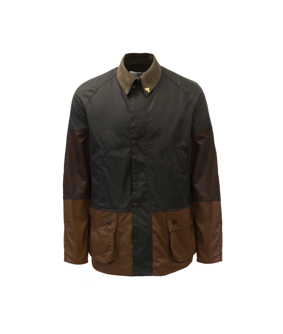 Landowner Tri-Colour Wax Walking Jacket - Forest Walk