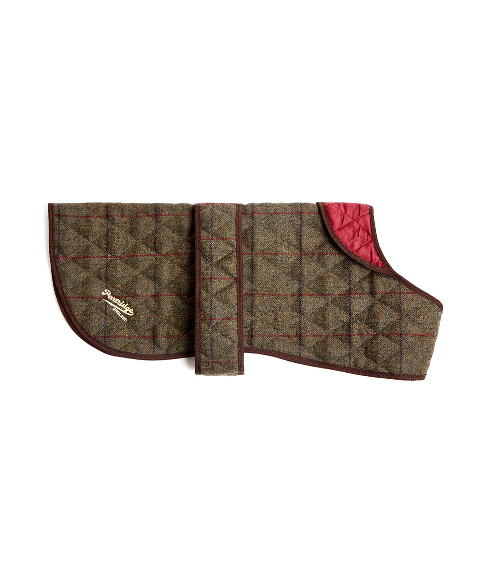 Dog Coat - Green Check Tweed