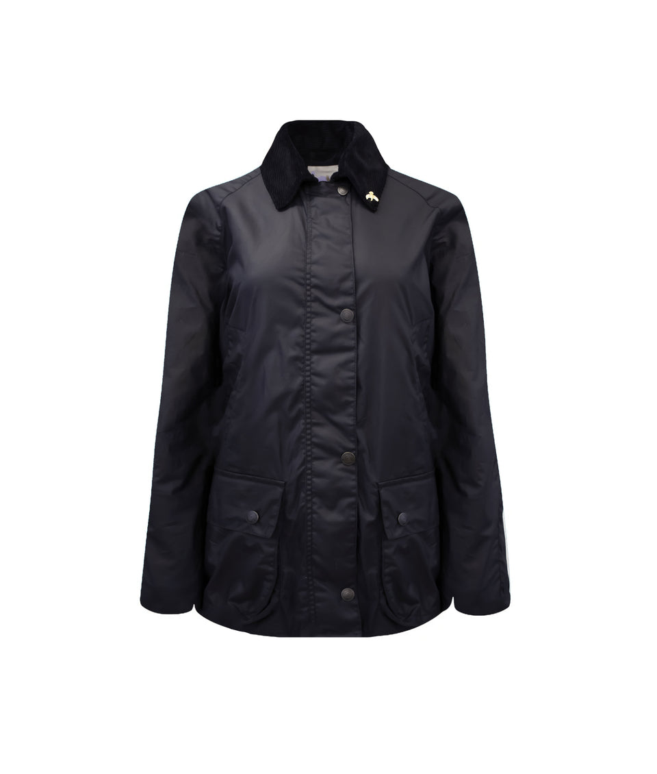 Ladies Lightweight Landowner Wax Walking Jacket - Navy