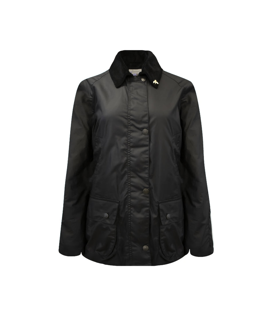 Ladies Lightweight Landowner Wax Walking Jacket - Black