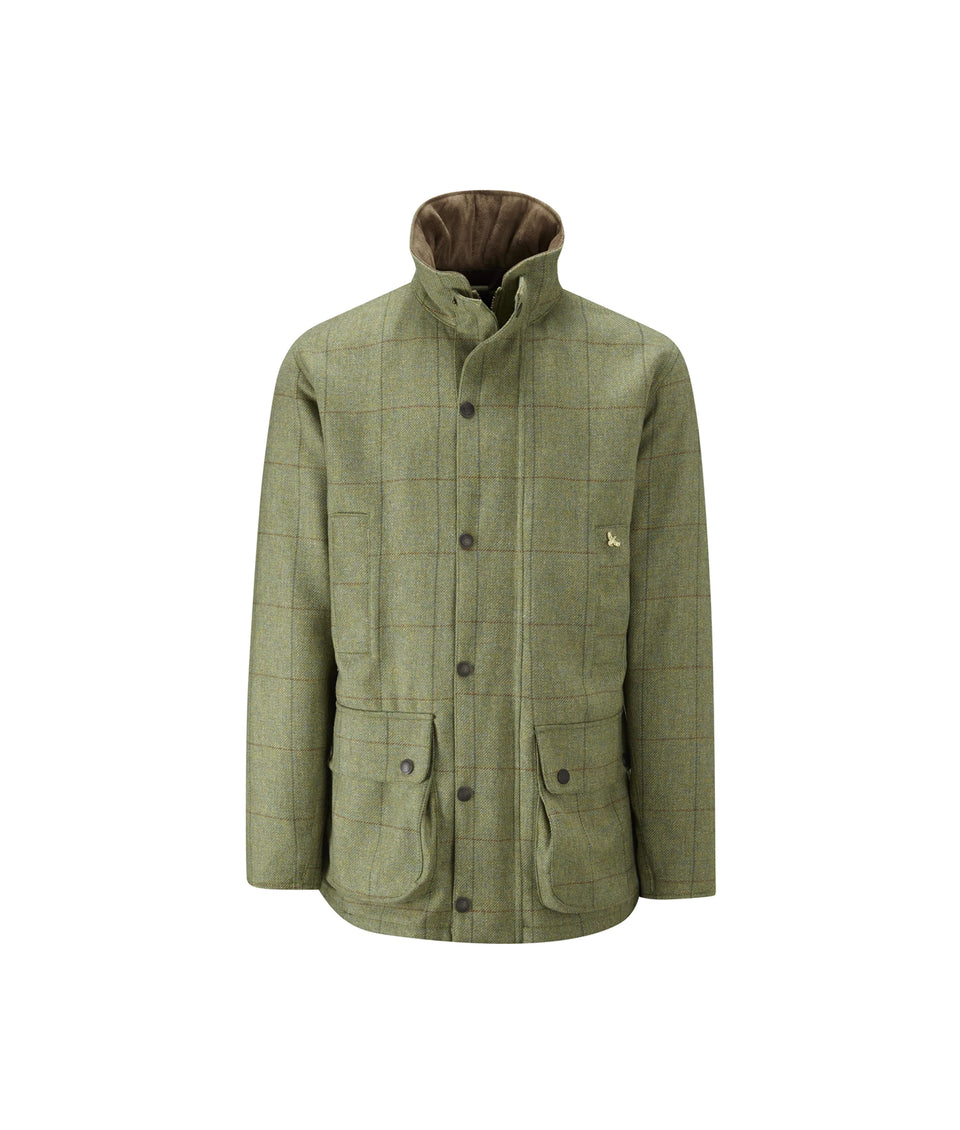 Lowland Tweed Shooting Jacket - Light Green check