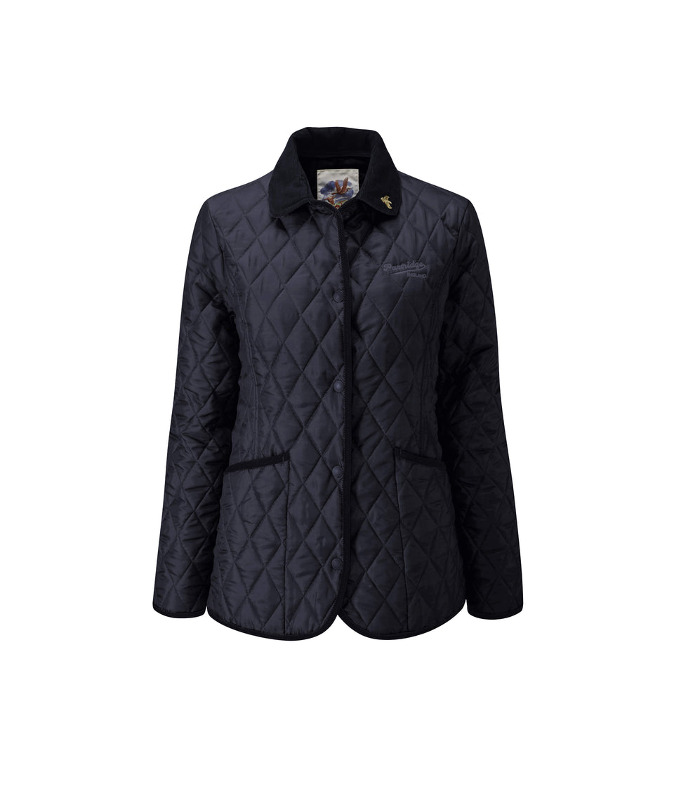 Moorland Classic Fit Quilted Jacket - Navy/Claret