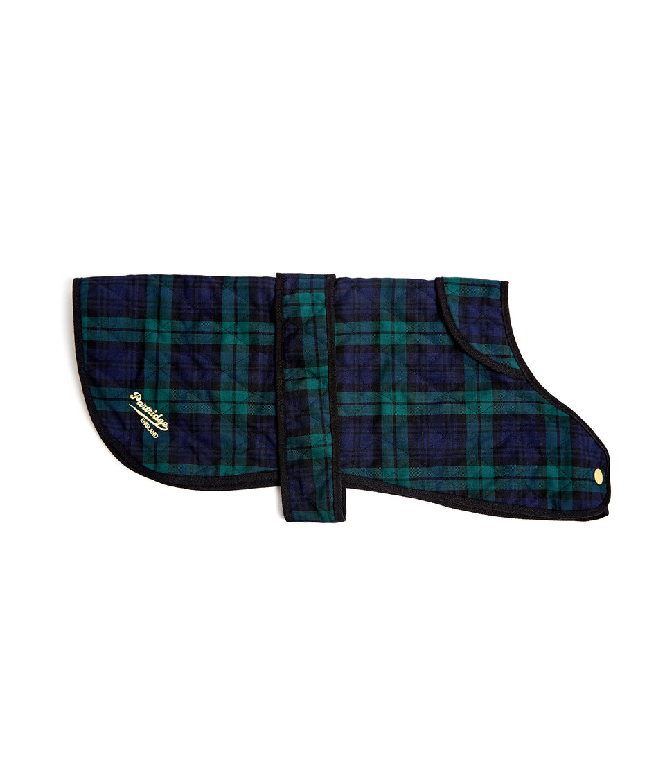 Dog Coat - Green & Navy Tartan