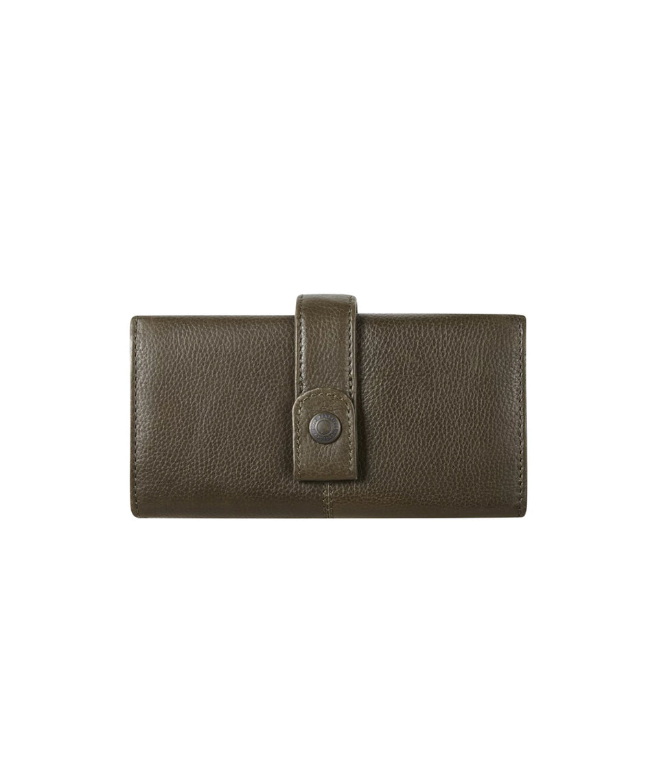 Leather Wallet - Olive