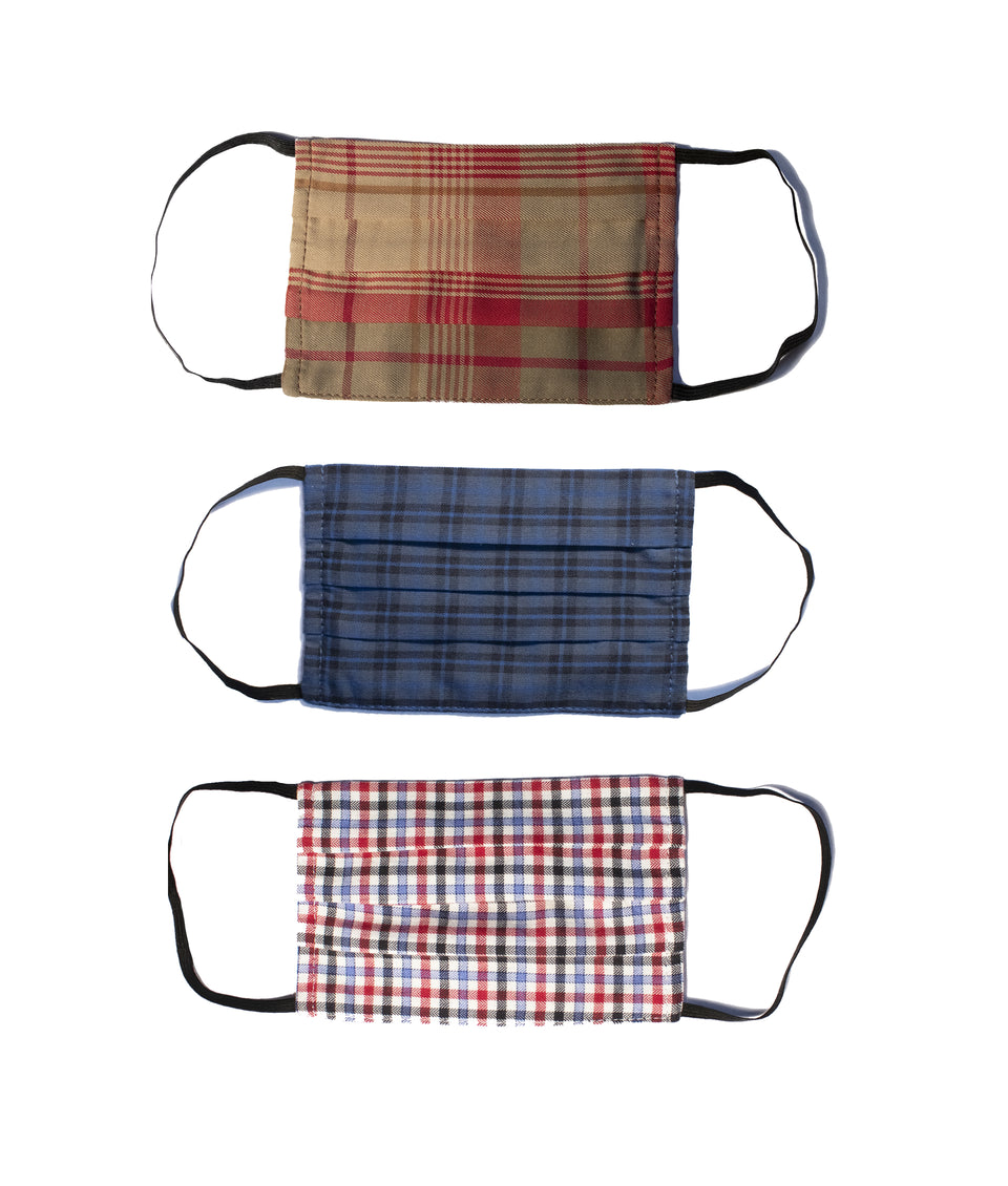 3PK Washable Face Covering - Country Checks