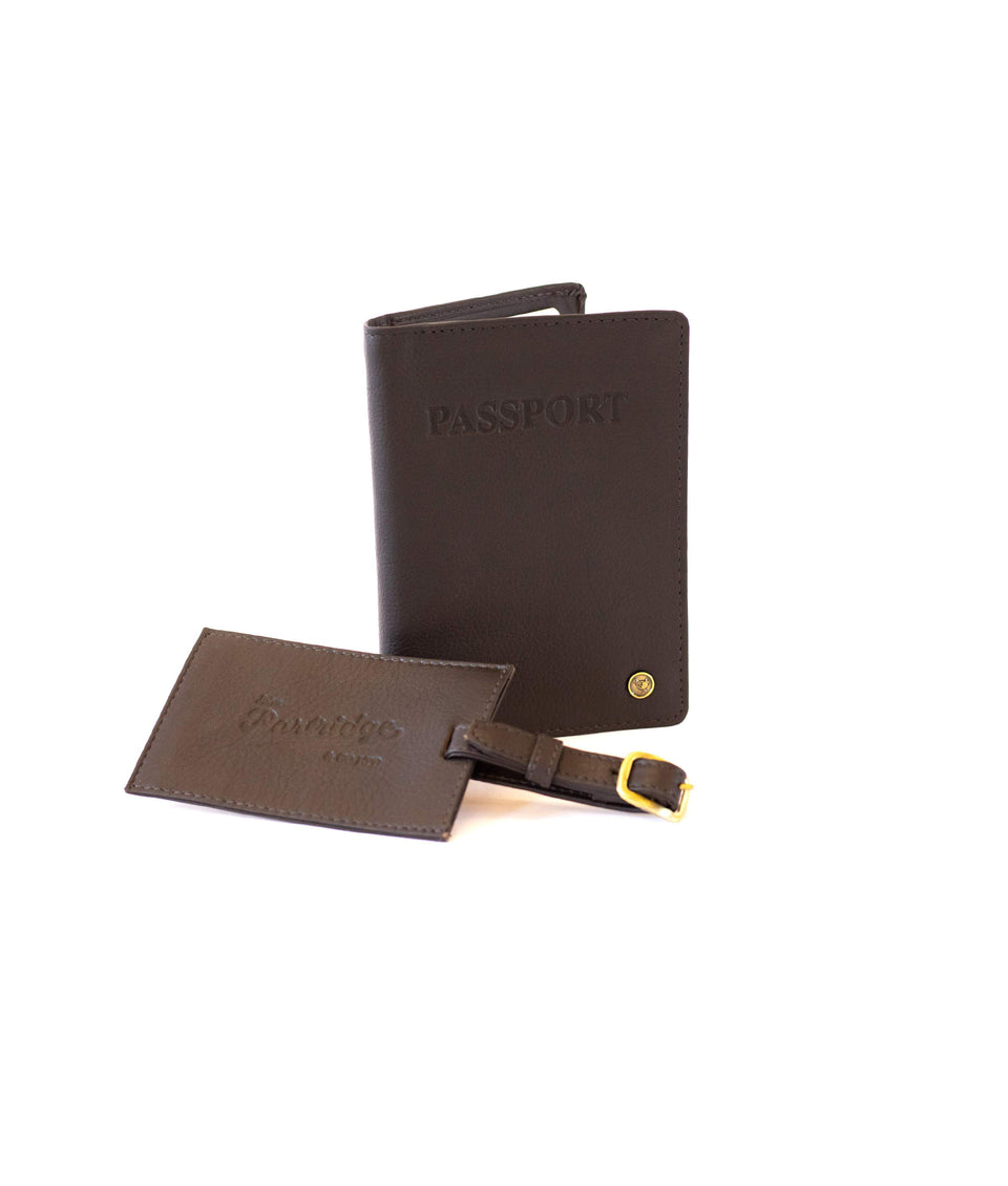 Travel Gift Sets - Classic Leather Brown