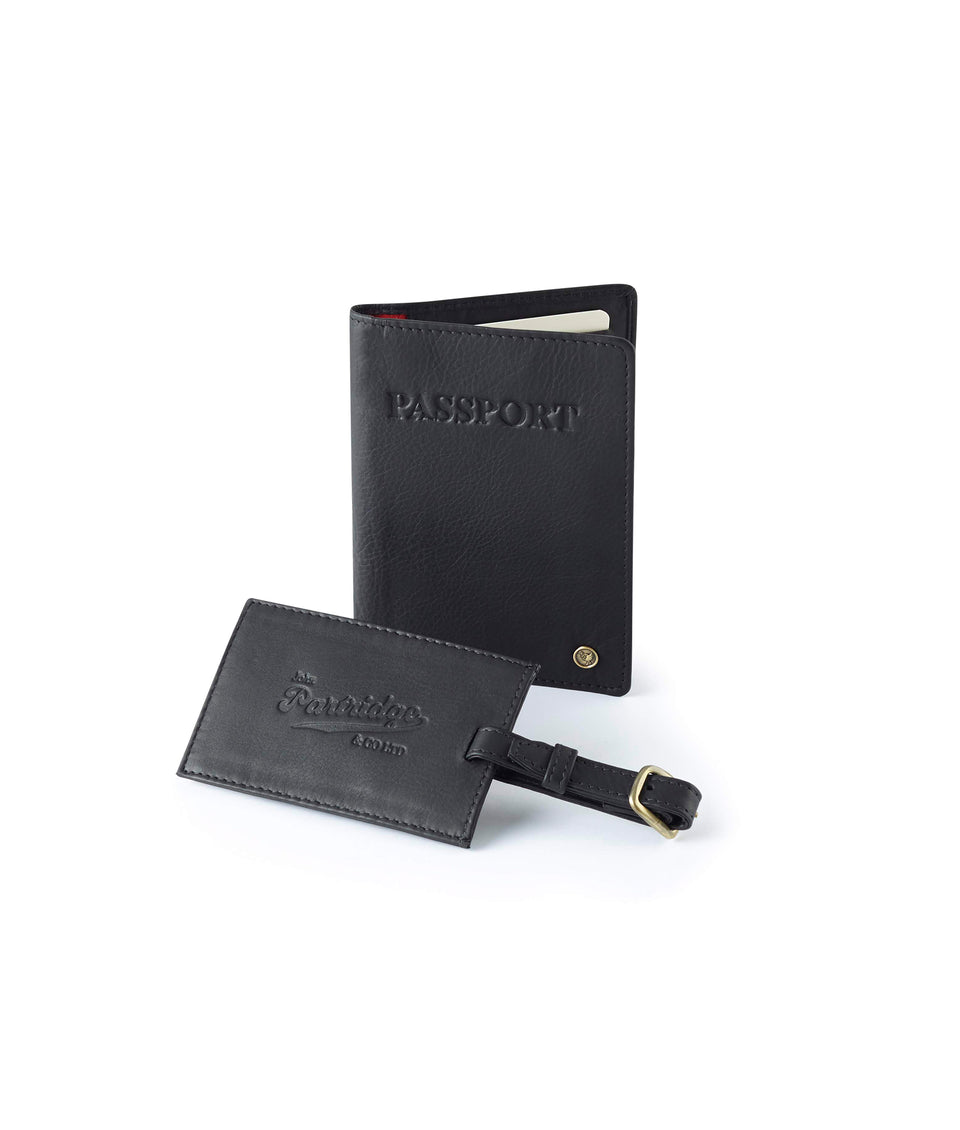 Travel Gift Sets - Classic Leather Black