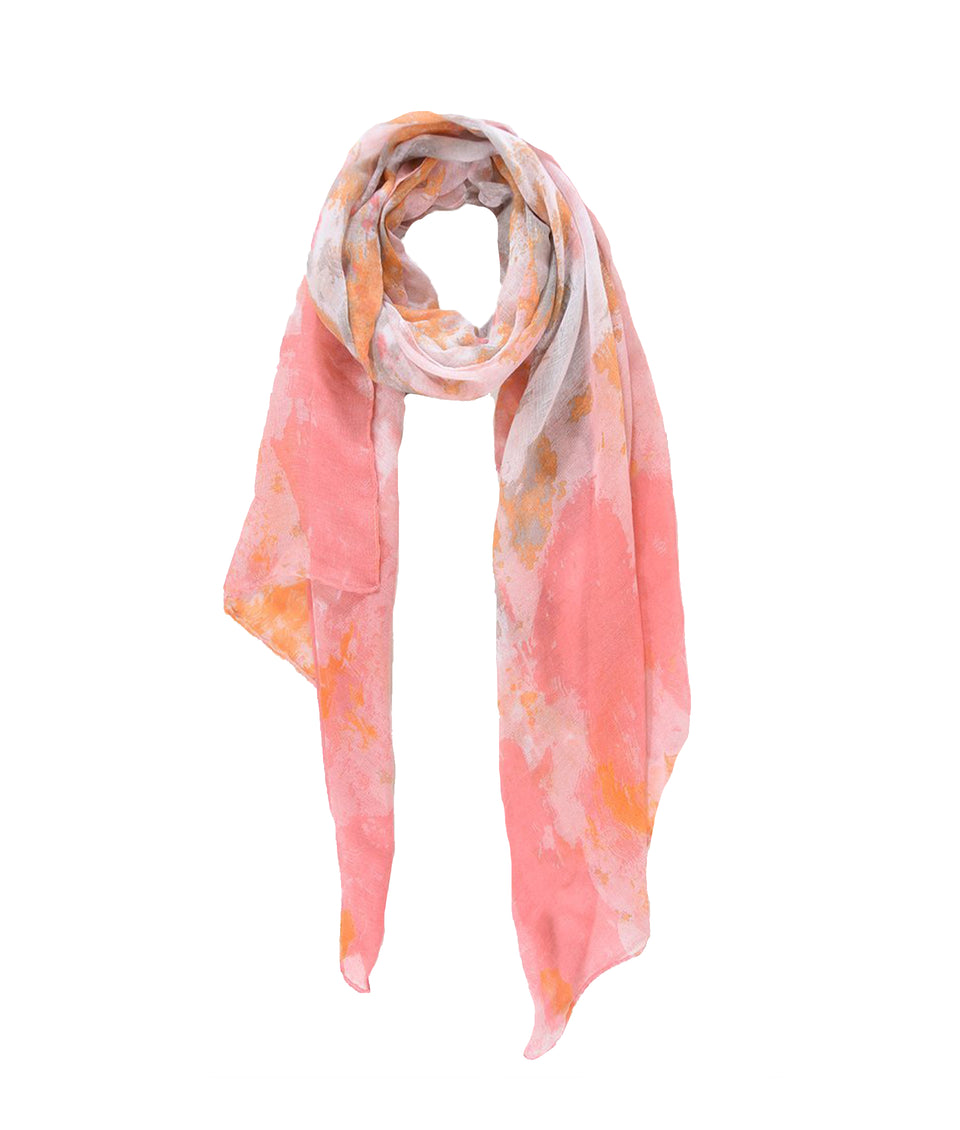 Scarf - Fuchsia Orange Paint Stroke