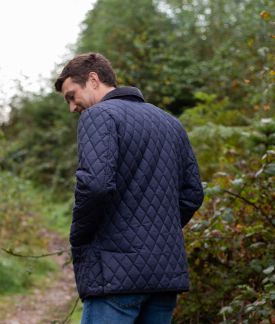Soft Touch Rag Quilted Jacket - Navy/Sable