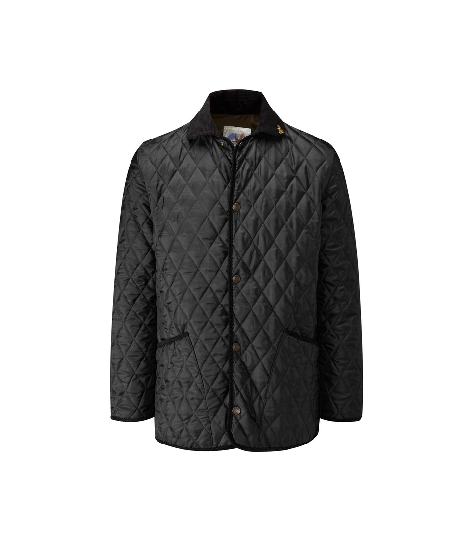 Rag Quilted Jacket - Black/Olive
