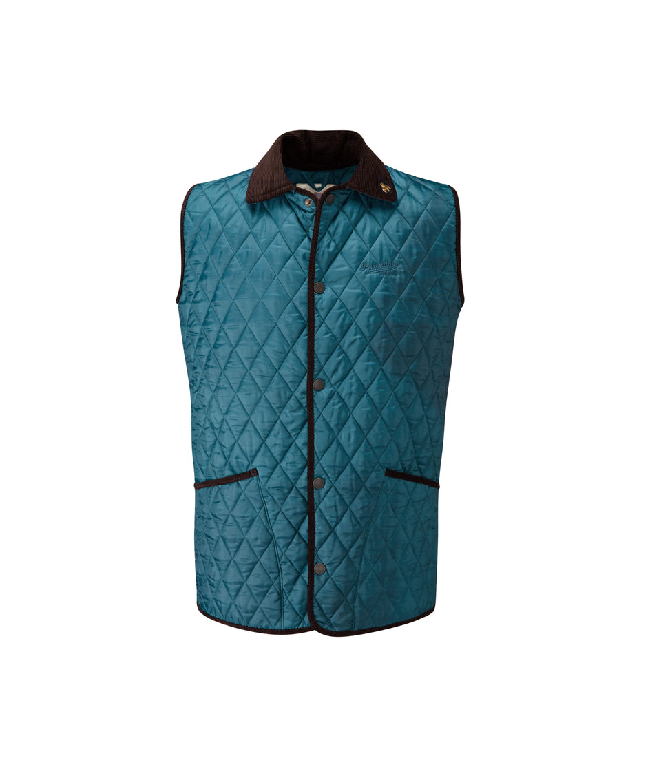 Rag Quilted Gilet - Petrol/Sand