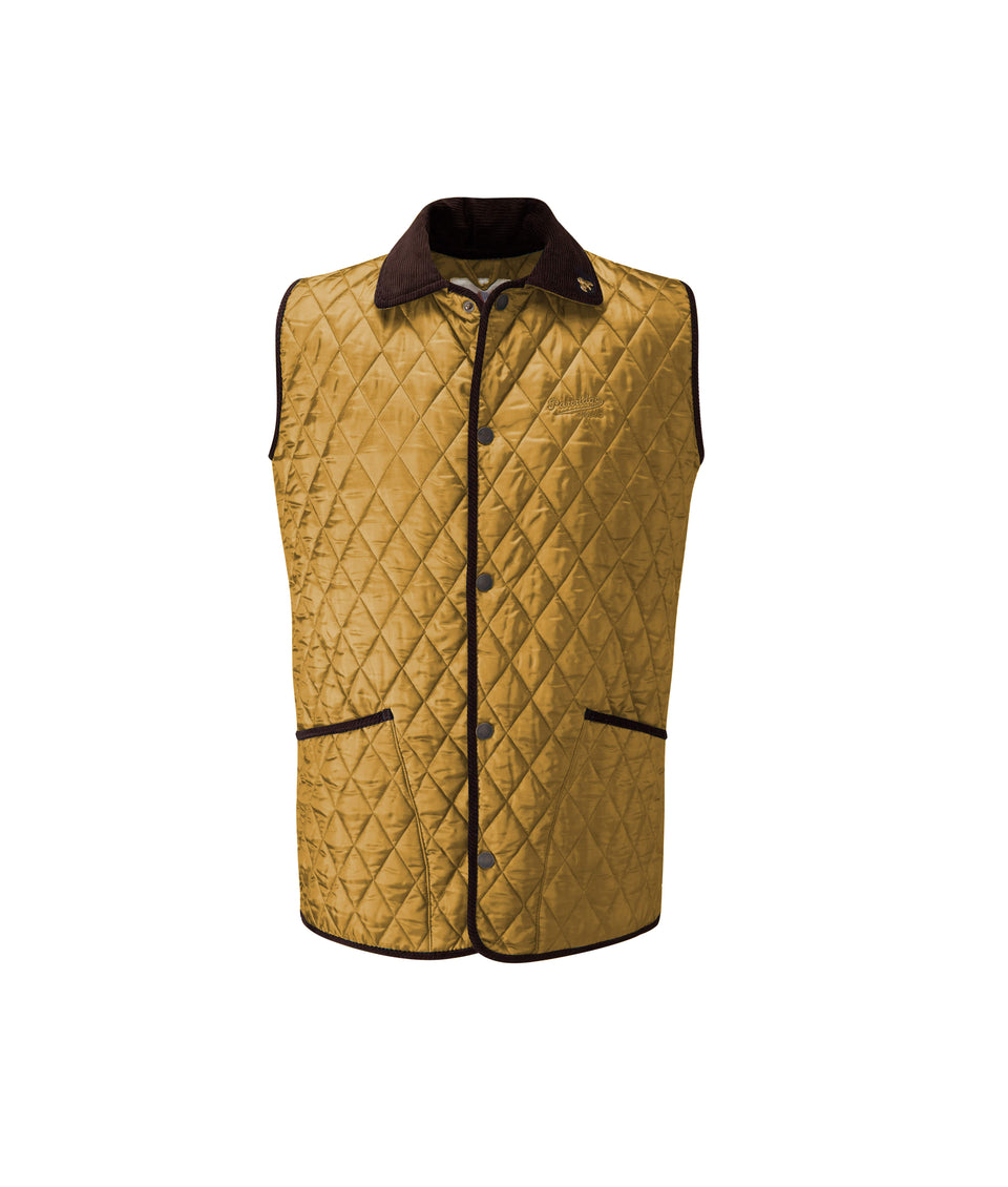 Rag Quilted Gilet - Sand/Petrol